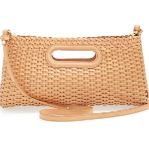 Brahmin Woven Leather Clutch