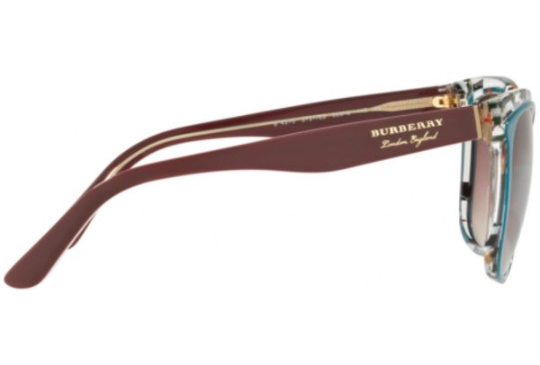Burberry of London England teal and check frame sunglasses