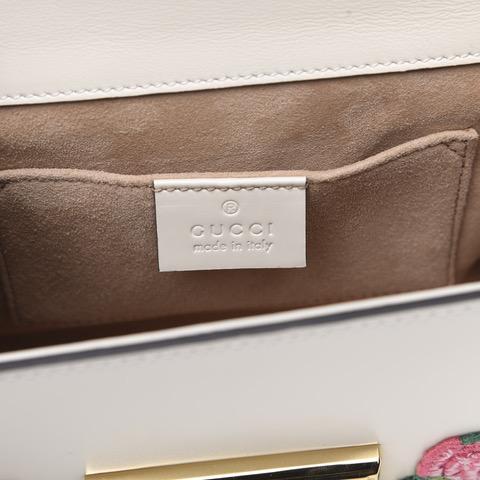 Gucci Floral Embroidered Shoulder Bag